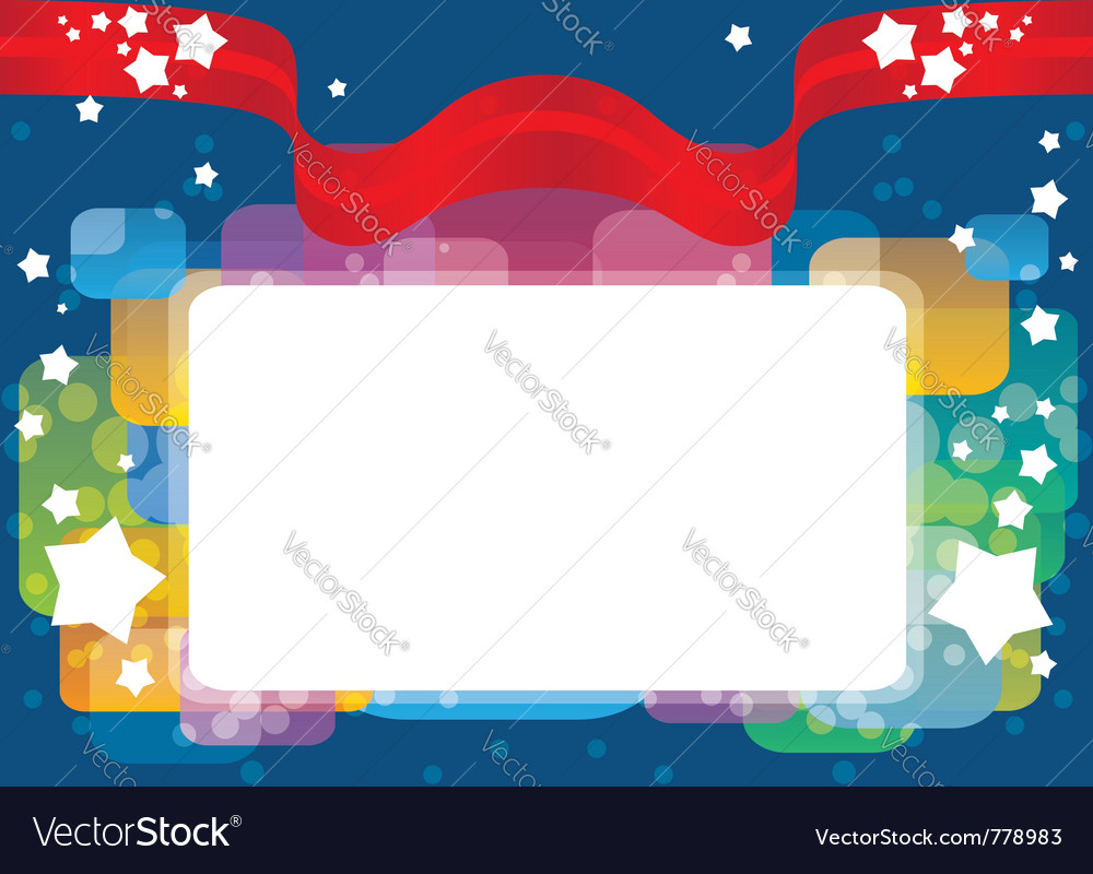 Greeting card template background vector image
