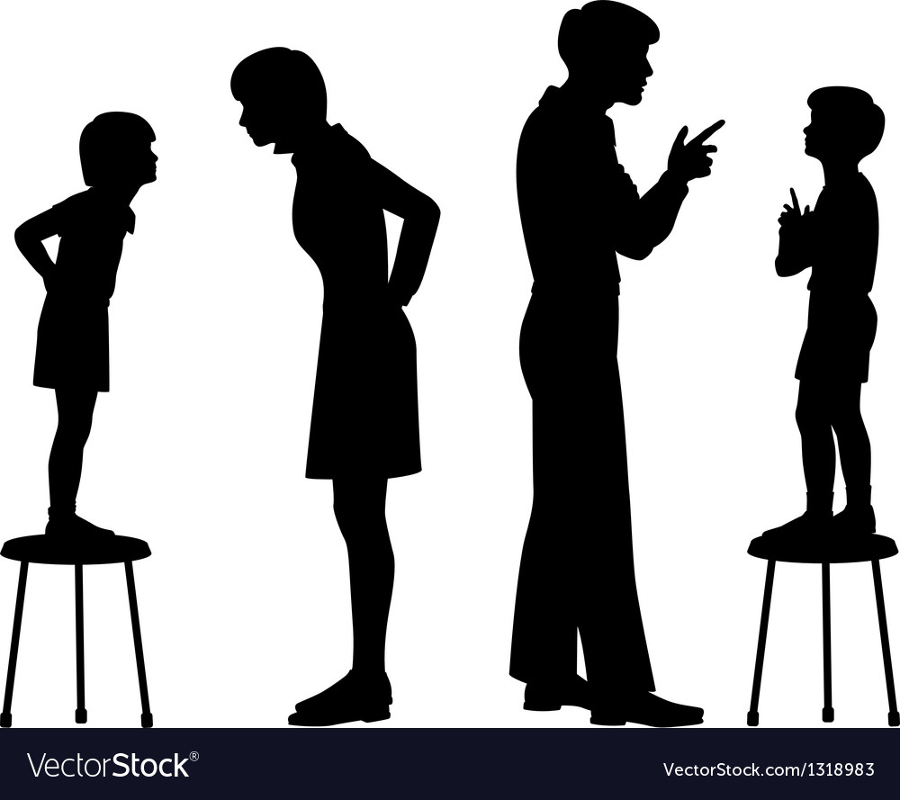 Like parent like child vector image