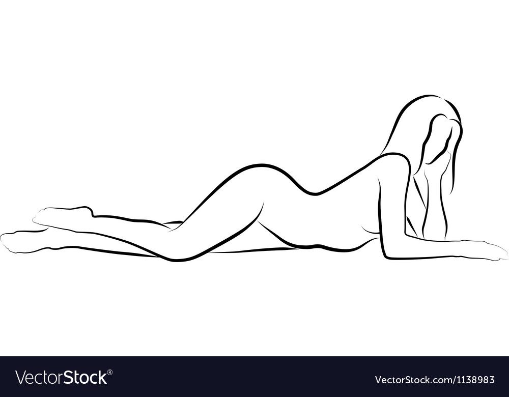 Nude woma vector image