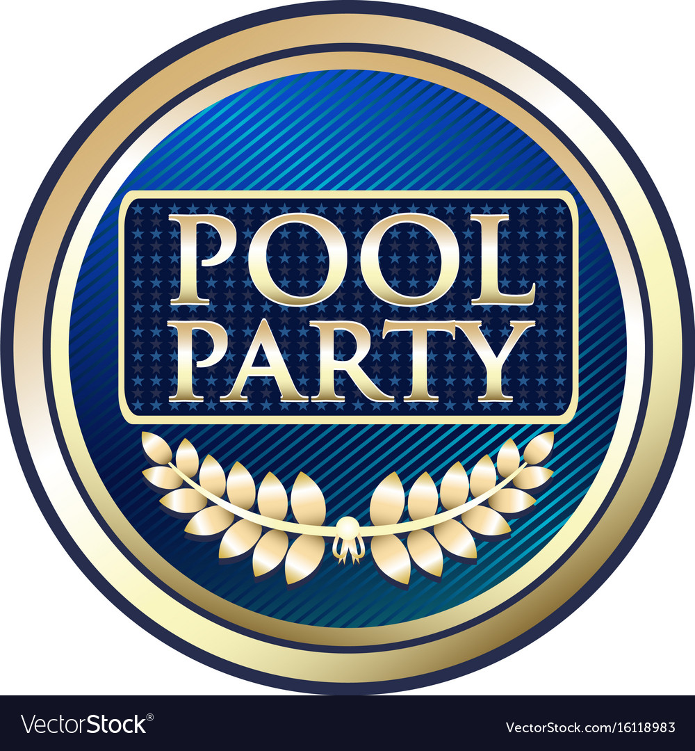 Pool party gold icon vector image