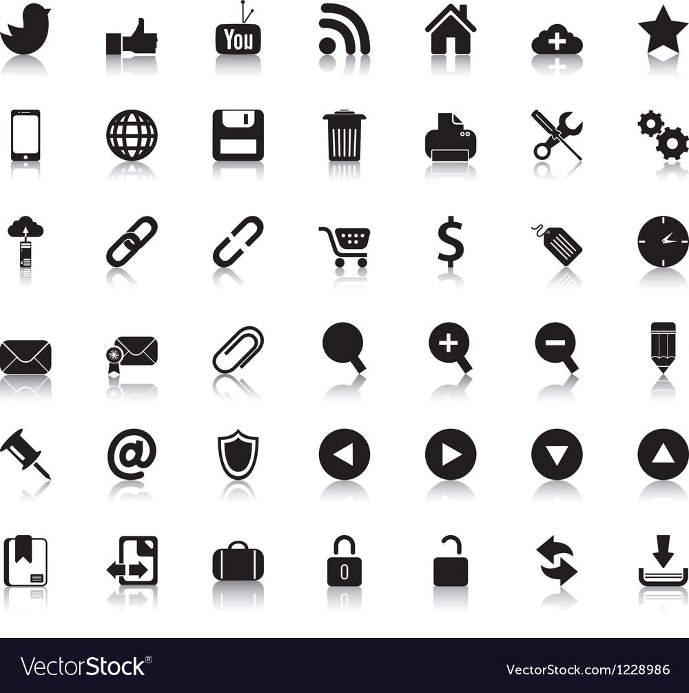 Social Web Icons Vector Image
