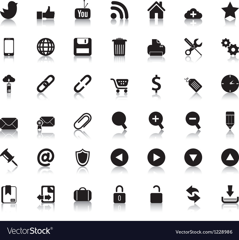 Social Web Icons vector image