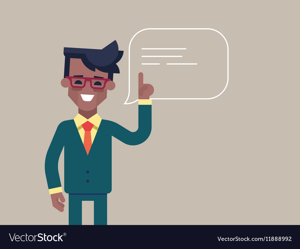 Black man holding up his index finger vector image