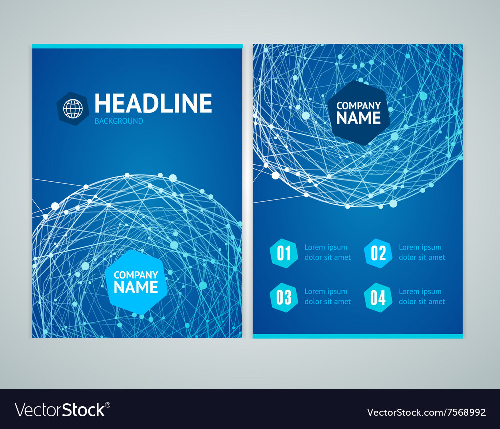 Flyer with Abstract Sphere vector image