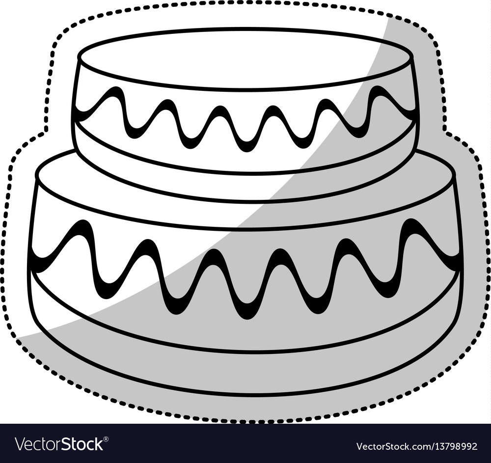 Wedding Cake Sweet Outline Royalty Free Vector Image - Wedding Cake Outline