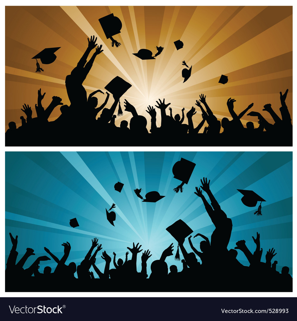 Graduation party vector image
