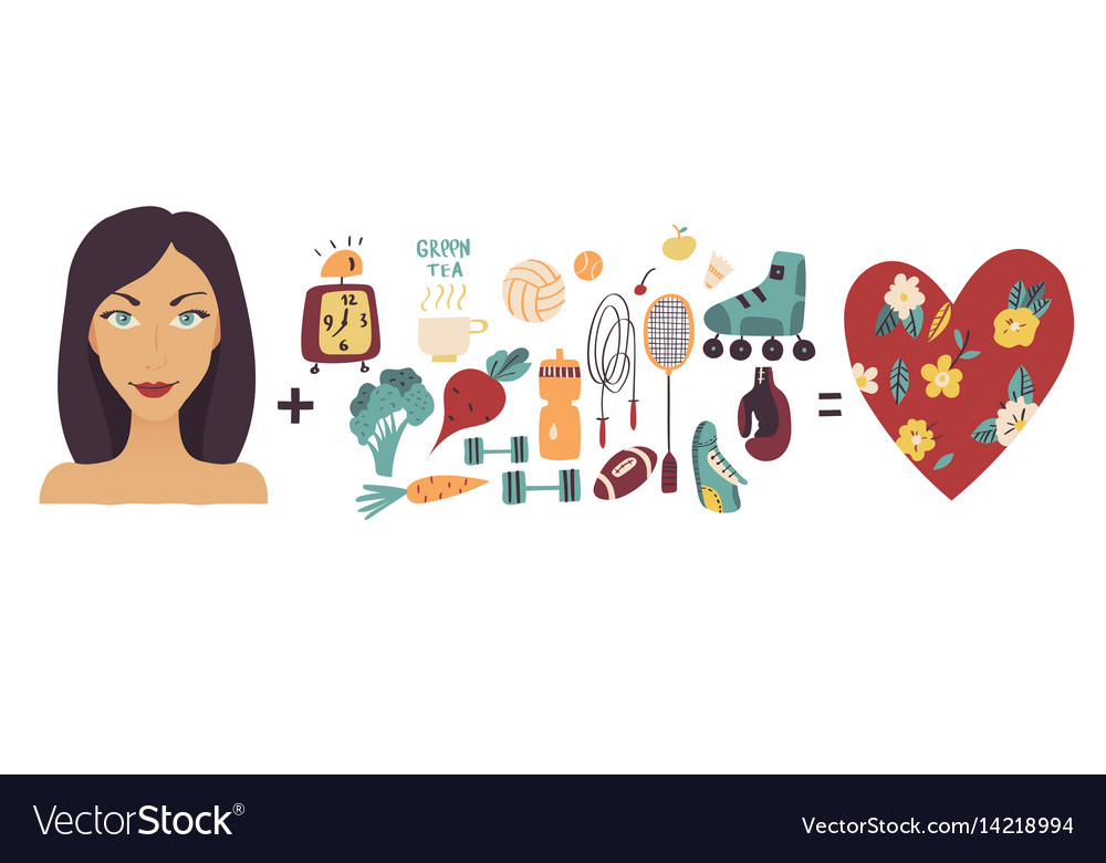Women beauty and health sport dieting fitness vector image