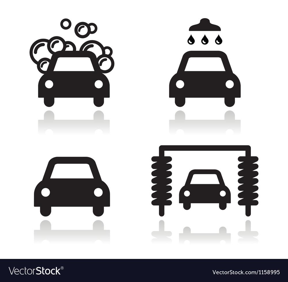 car wash icons set royalty free vector image