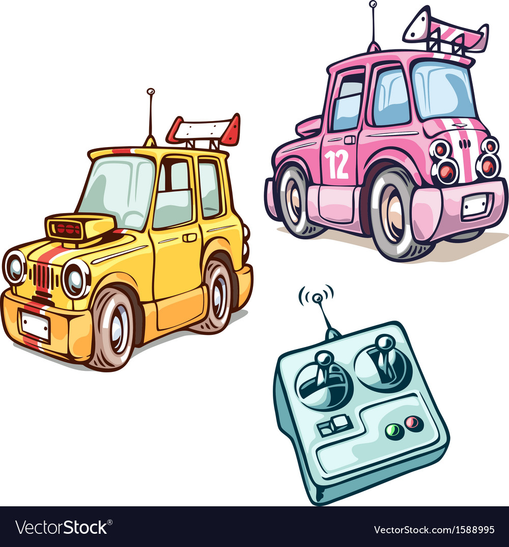 Two RC cars vector image