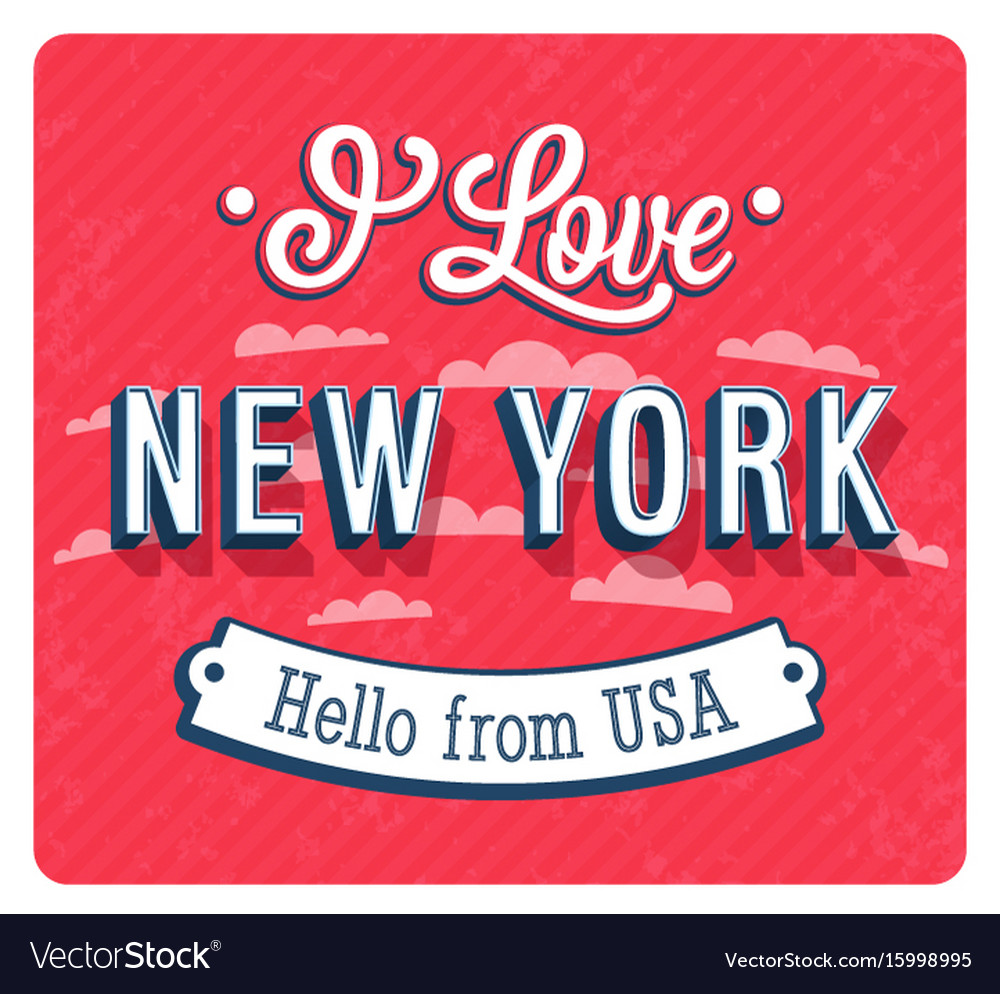 Vintage greeting card from new york vector image