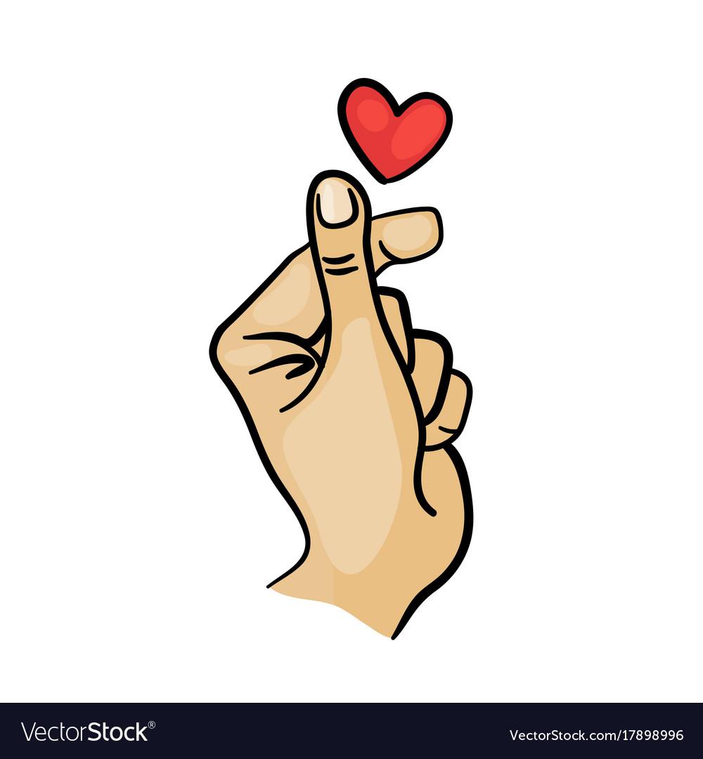 Korean finger heart i love you hangul royalty free vector korean finger heart i love you hangul vector image buycottarizona Choice Image