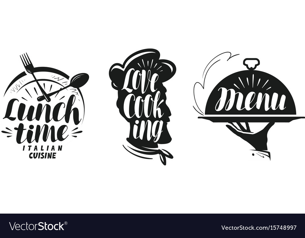 Cooking cuisine logo set icons and symbols for vector image