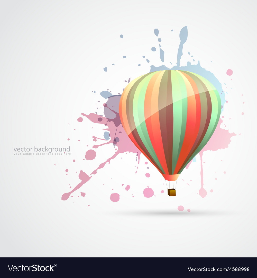 Colorful parachute vector image