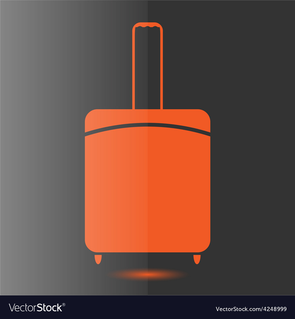 Icon suitcase vector image