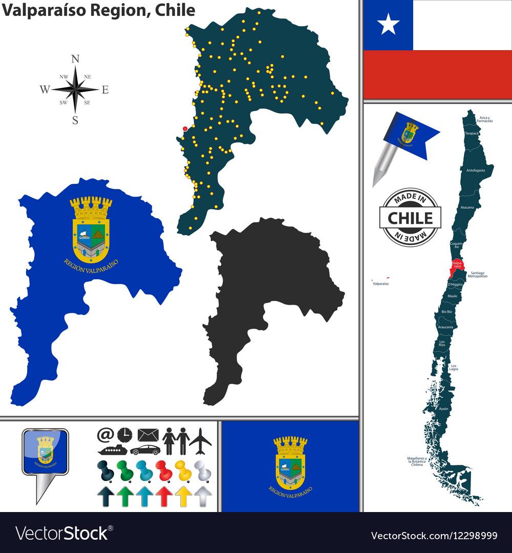 Map of Valparaiso vector image