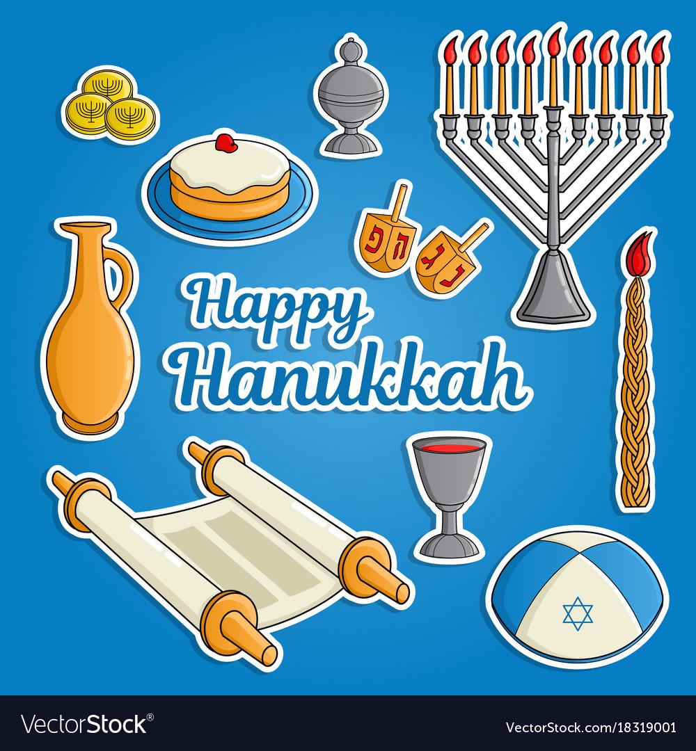 Jewish holiday hanukkah greeting card traditional