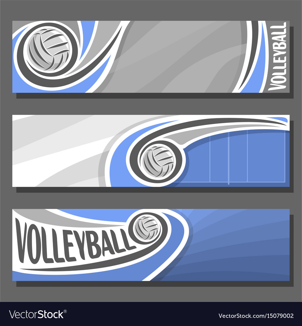 Horizontal banners for volleyball vector image