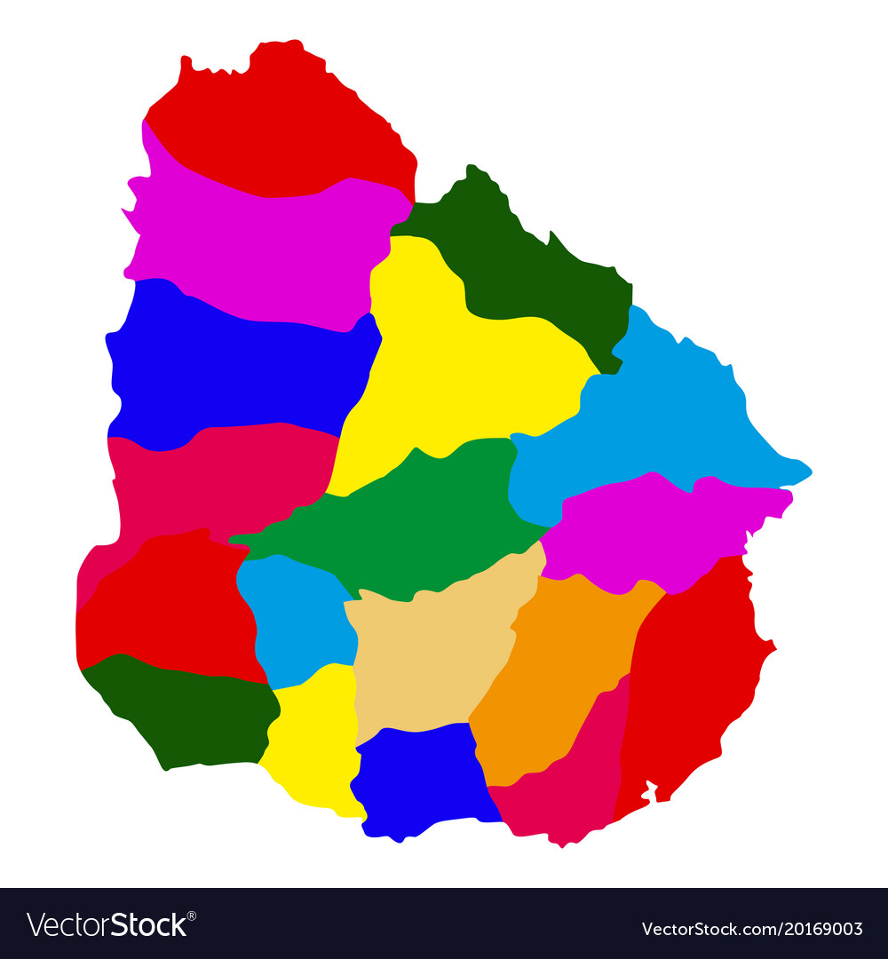 Political map of uruguay Royalty Free Vector Image