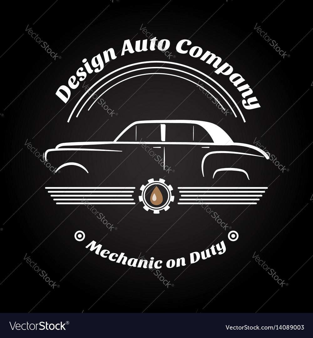 Retro vintage car logo Royalty Free Vector Image