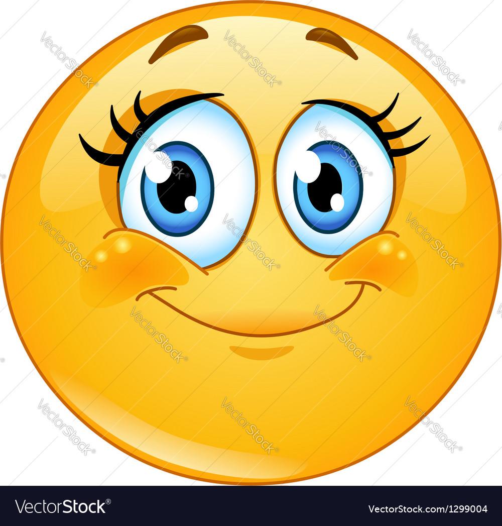 Eyelashes emoticon vector image