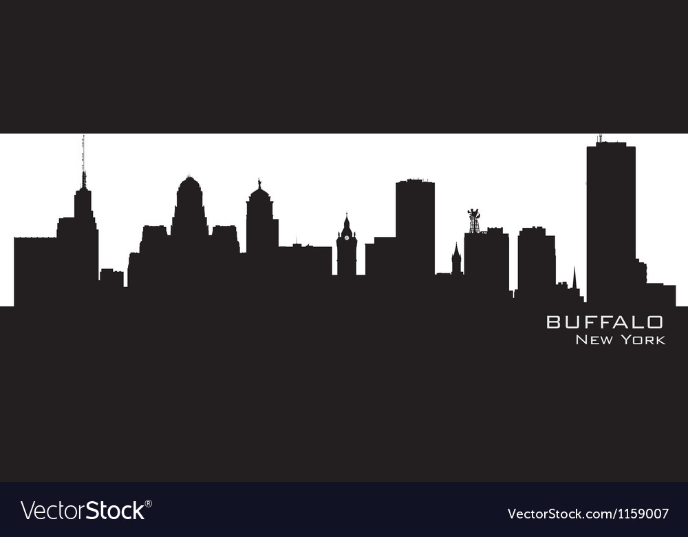 Buffalo New York Detailed city silhouette vector image