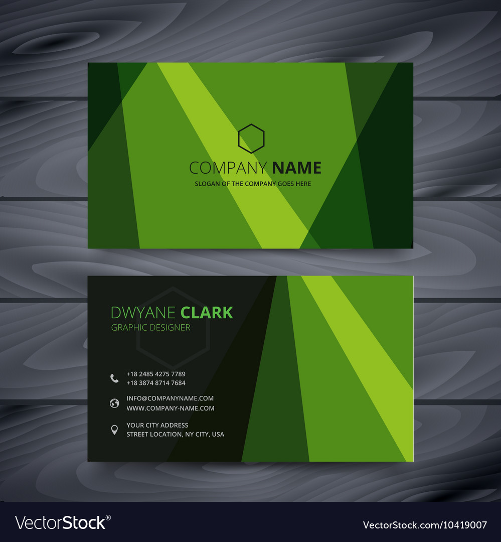 Green business card design template royalty free vector green business card design template vector image fbccfo Image collections
