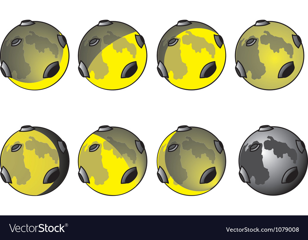 Phases of the moon vector image
