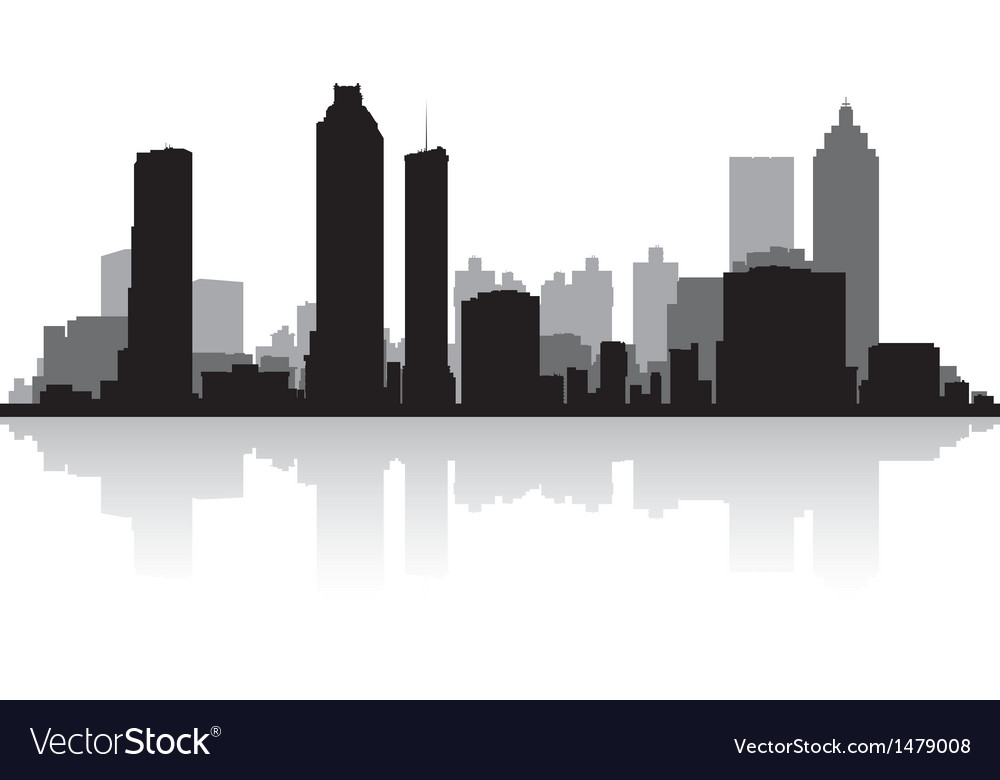 Atlanta USA city skyline silhouette vector image