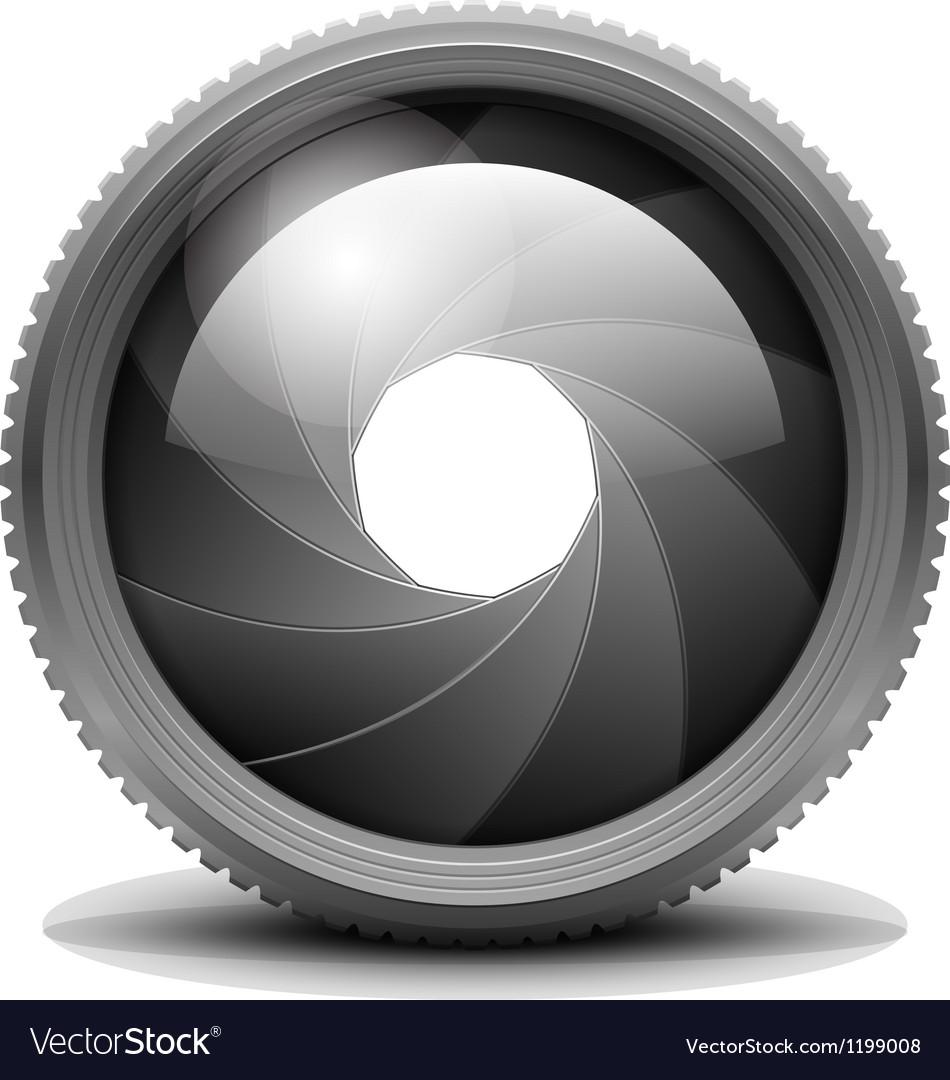 Camera Shutter Aperture vector image