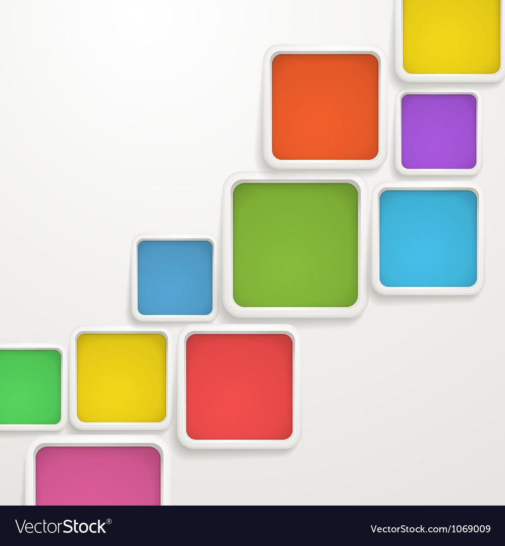 Color blocks vector image