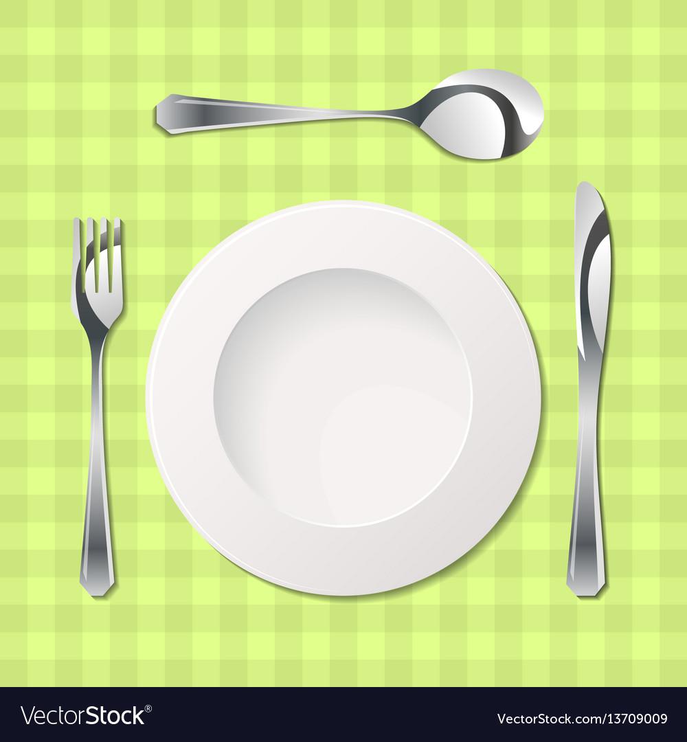 Cutlery with gradients vector image