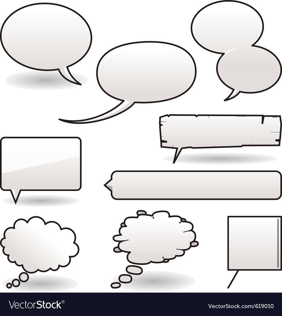 Cartoon speech balloons vector image