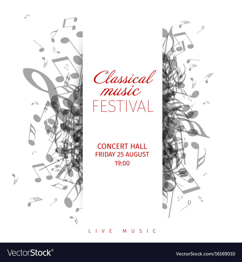 poster template 90 x 120cm - classical music concert poster template royalty free vector