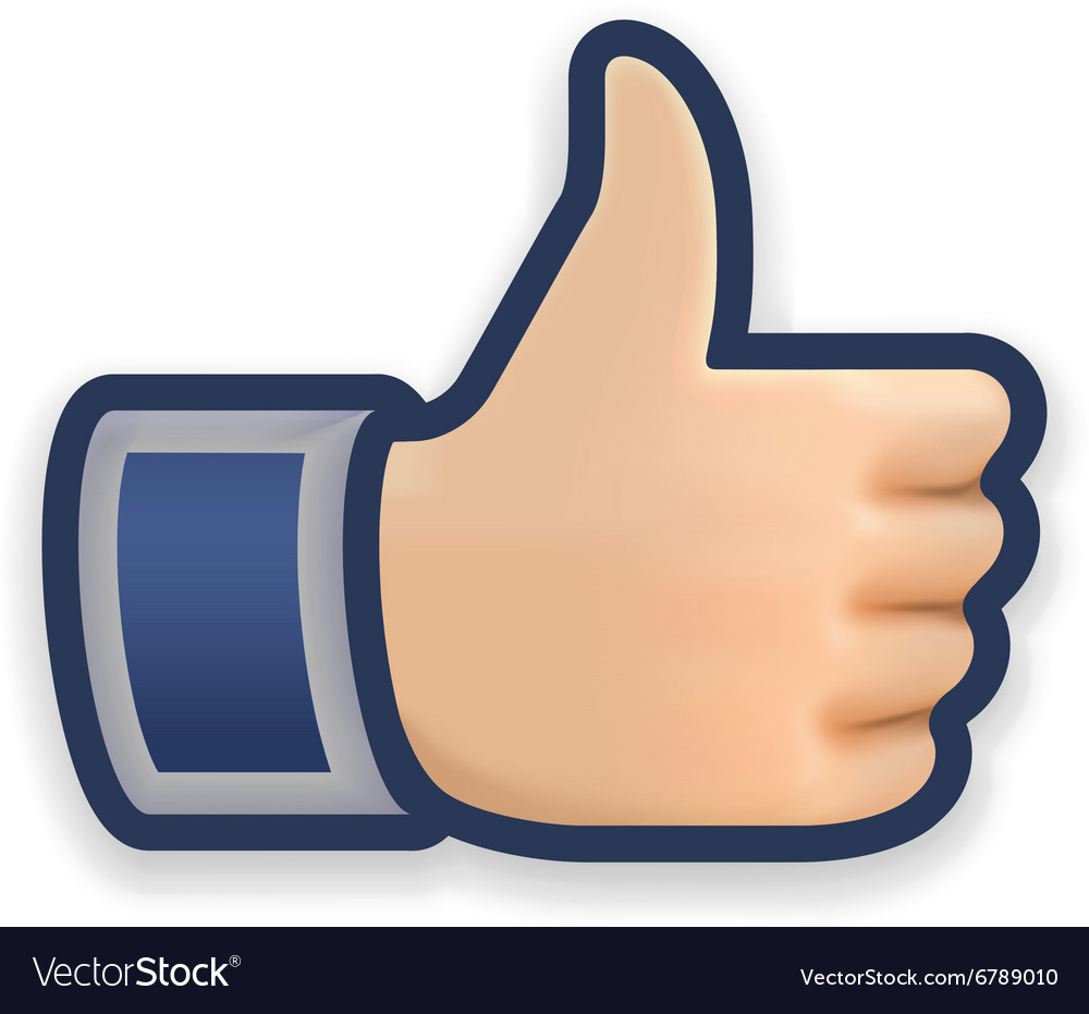 Like icon emoji thumb up symbol vector image