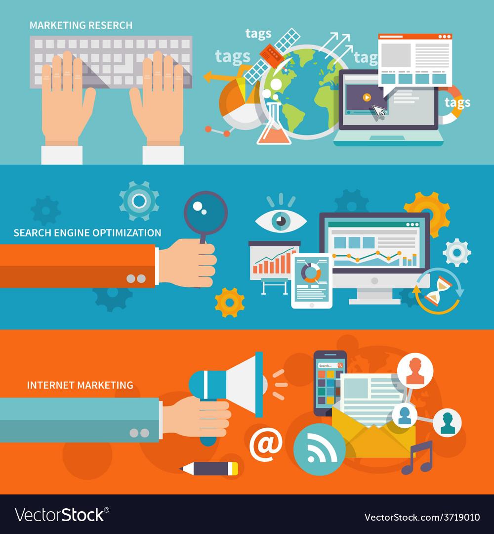 Seo Internet Marketing Banner vector image