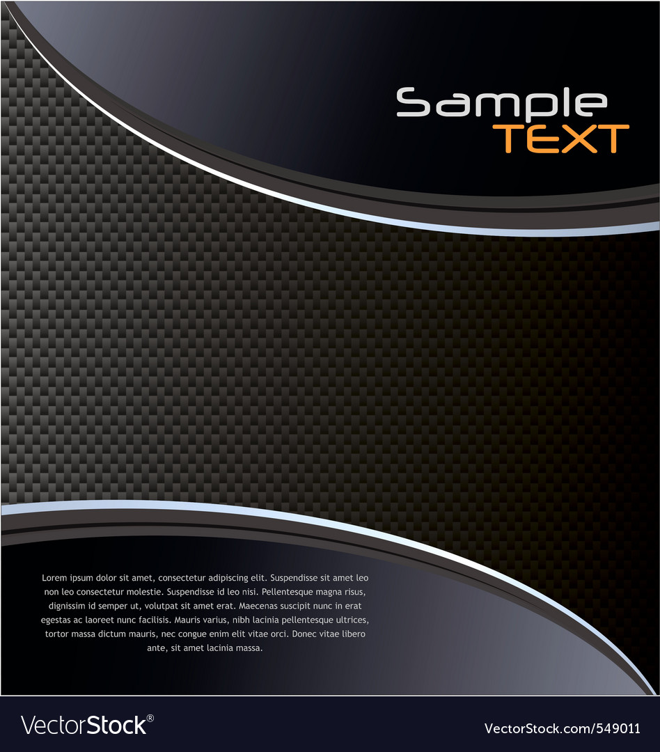 Elegant fiber carbon background vector image