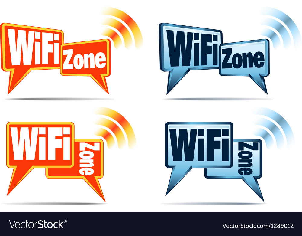 WiFi Zone WiFi Icons vector image