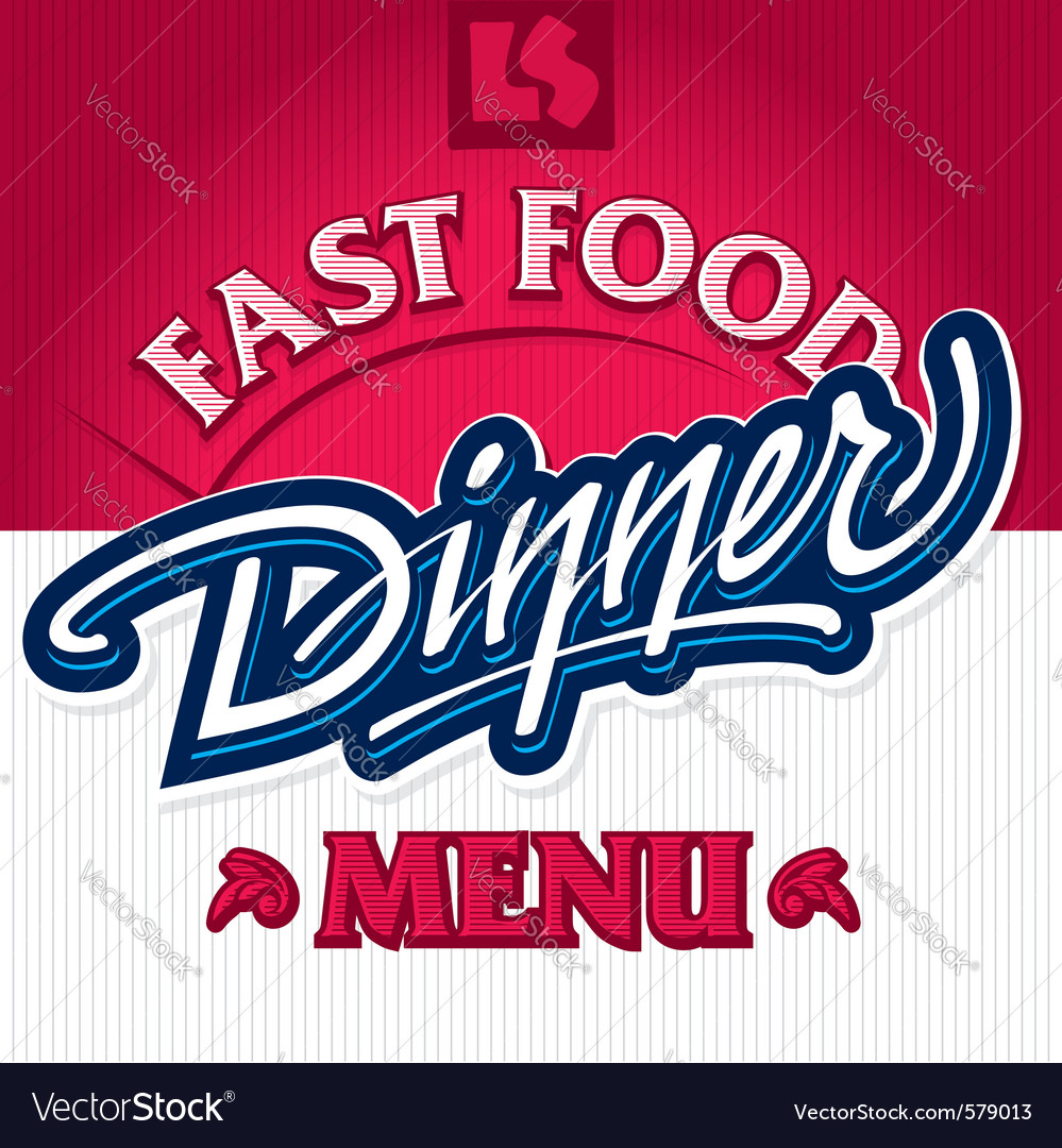 Hand lettering design vector image