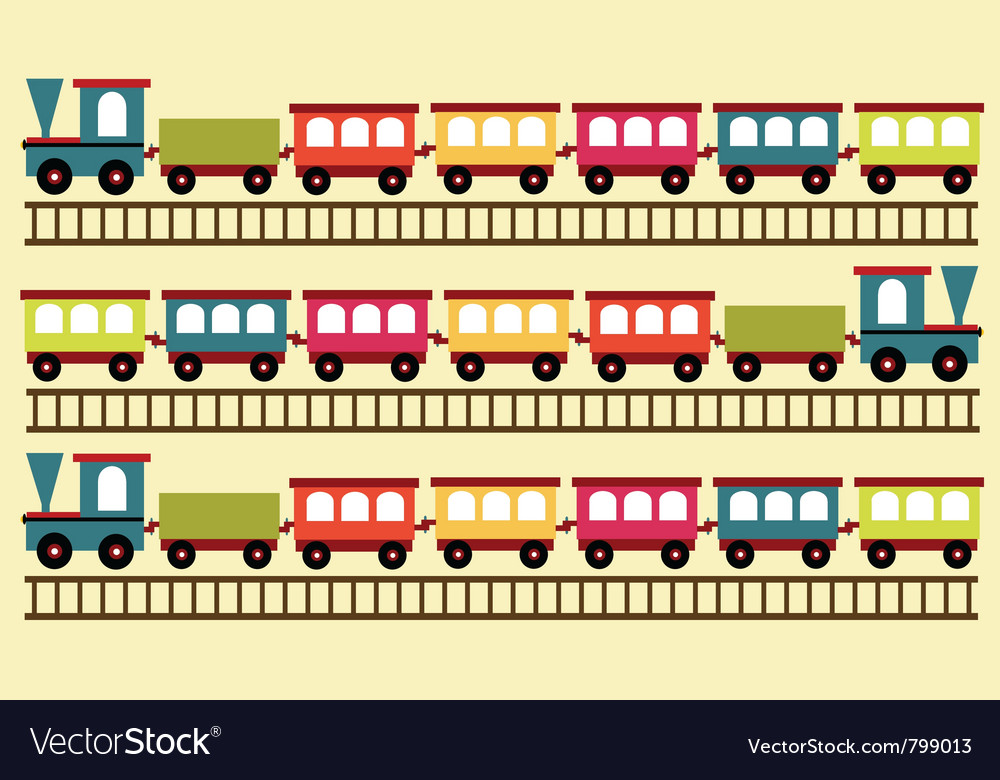 Train pattern toy background vector image