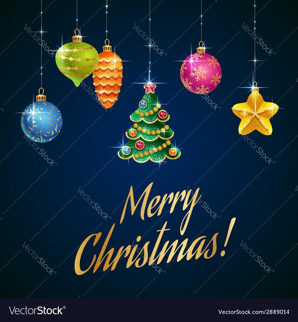 Flash christmas tree blue vector image