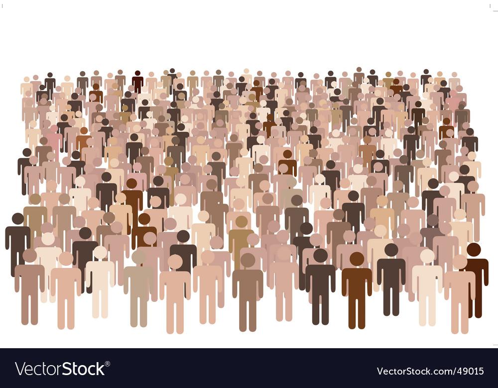 Diverse population vector image