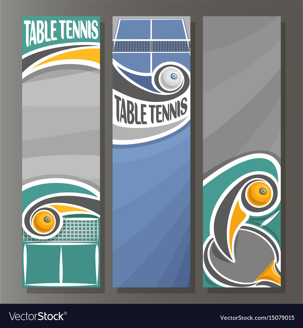 Vertical banners for table tennis vector image