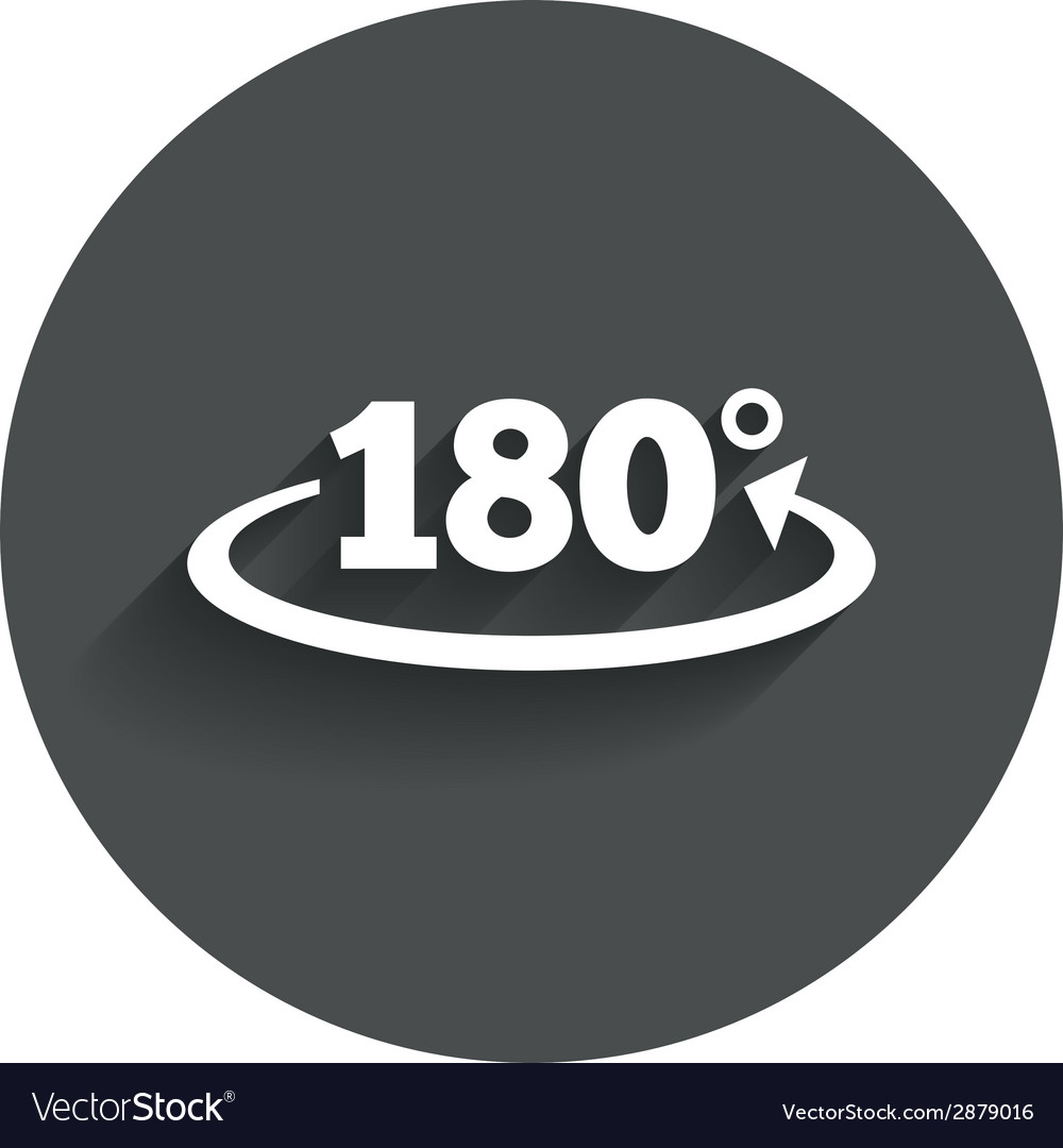 Angle 180 degrees sign icon Geometry math symbol vector image