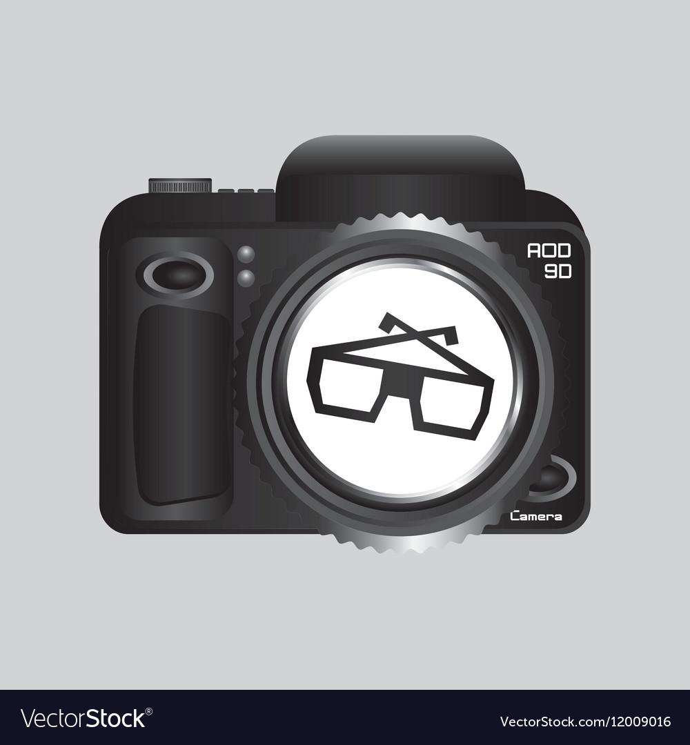 Digital photo camera glasses 3d vector image
