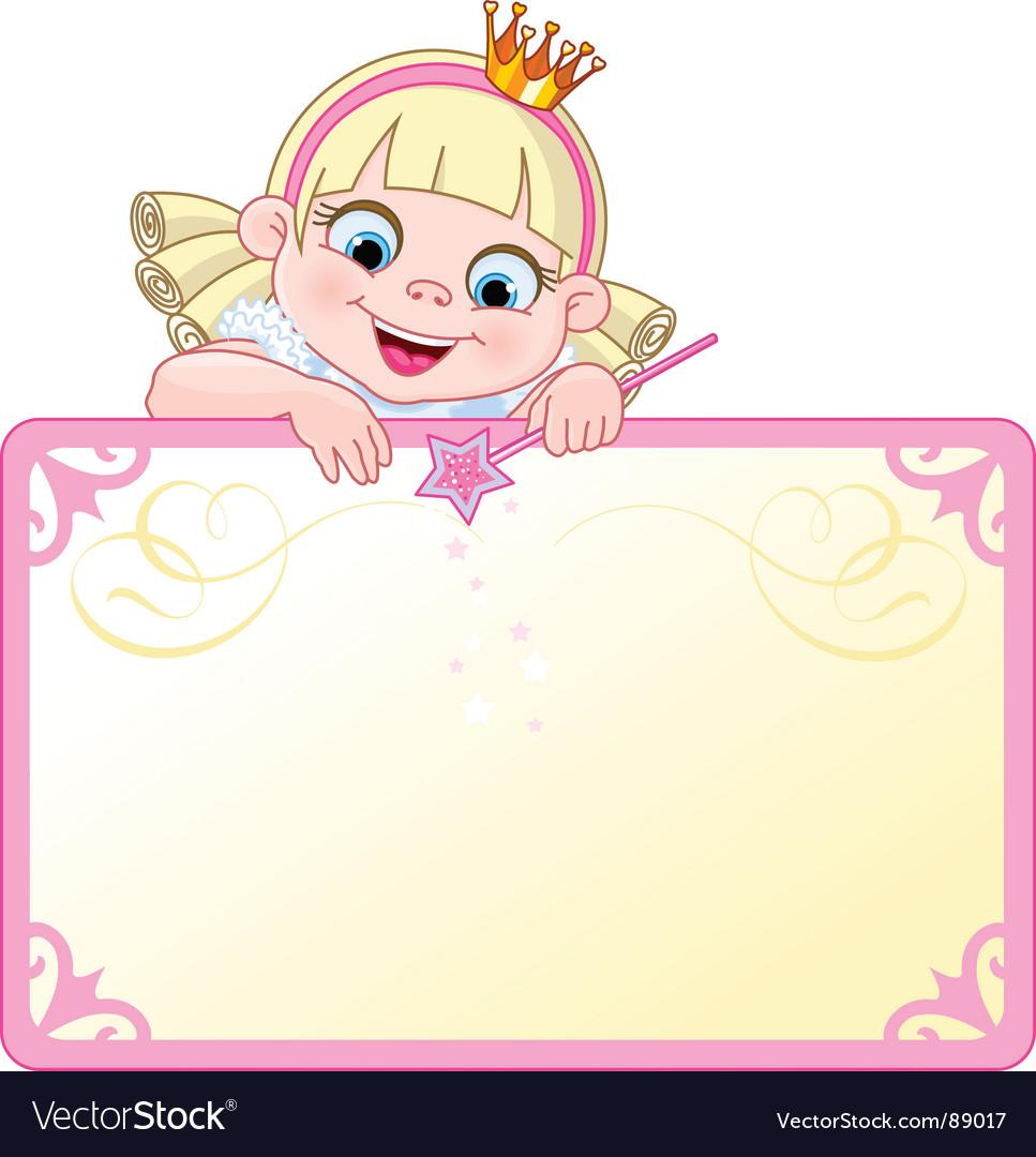 Princess invitation vector image