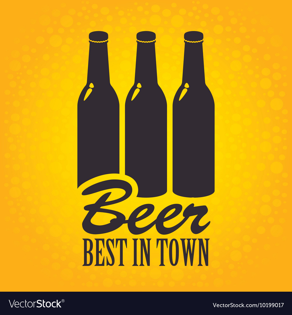 Banner with a bottles of beer vector image