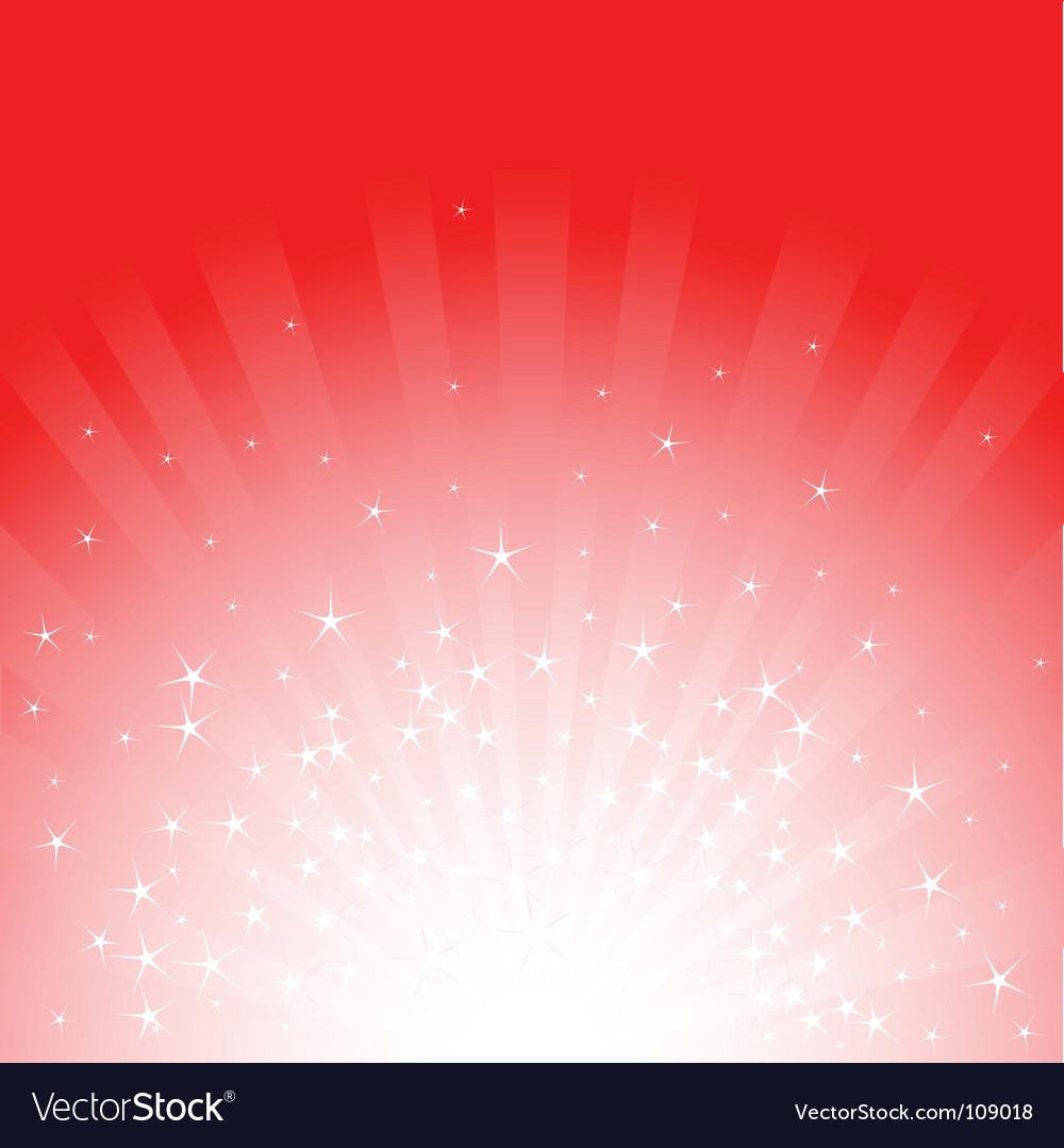 Christmas stars and stripes vector image