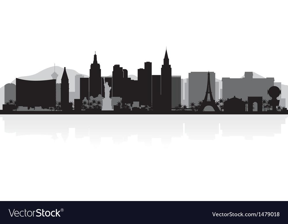 Las Vegas USA city skyline silhouette vector image