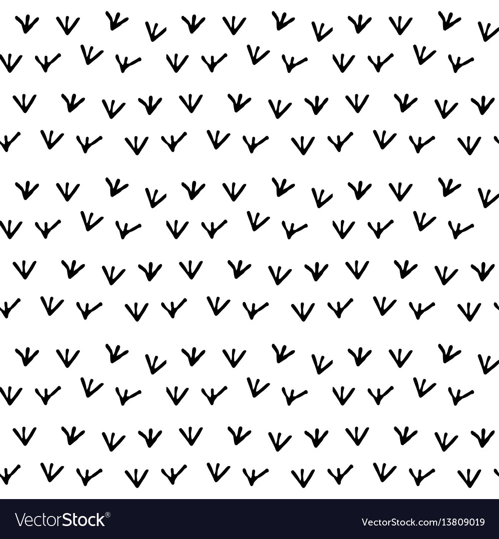 Seamless black and white background pattern vector image