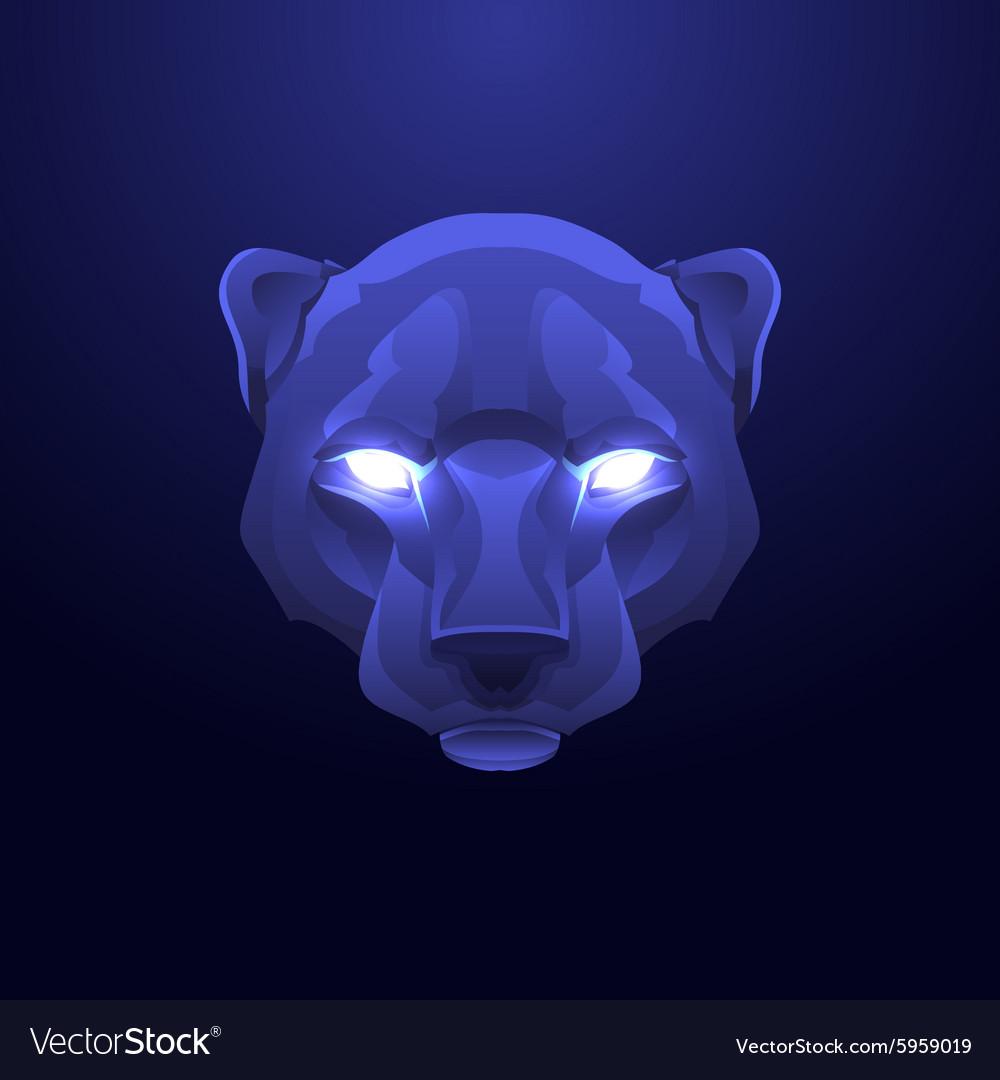 Vintage panther label Retro design graphic vector image